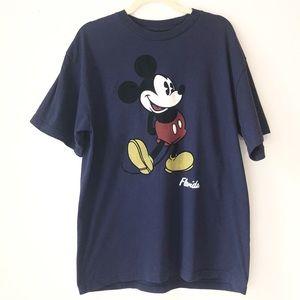 Disney Florida Mickie Mouse T Shirt XL velvet logo